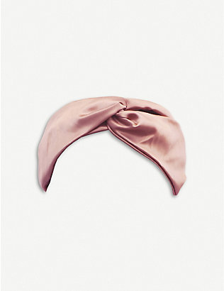 SLIP: Twisted pure silk elasticated headband