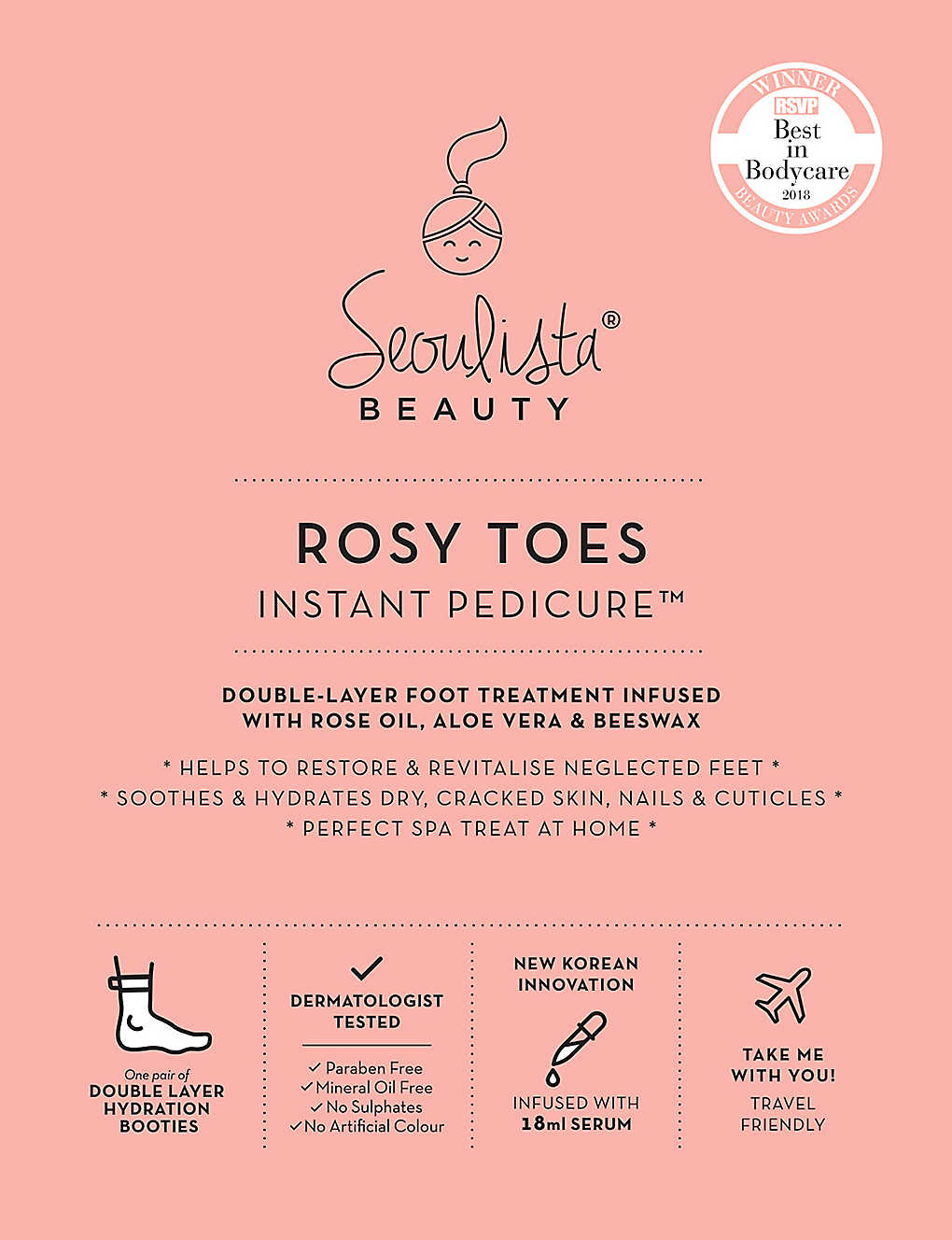 SEOULISTA: ROSY TOES Instant Pedicure