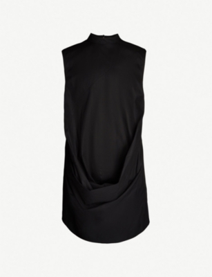 RICK OWENS DRKSHDW Gathered-detail cotton-twill top