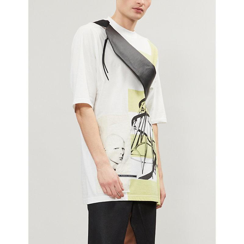 Rick Owens Drkshdw T-shirts TATLIN'S TOWER-PRINT COTTON-JERSEY T-SHIRT
