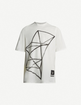RICK OWENS DRKSHDW Jumbo graphic-print cotton-jersey T-shirt