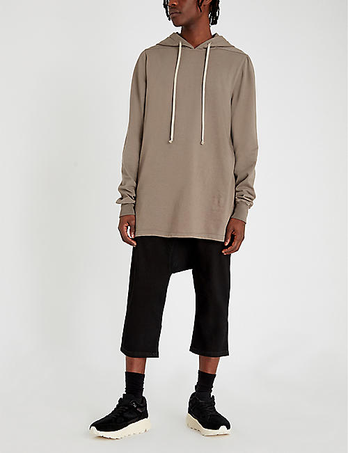 RICK OWENS DRKSHDW Exposed seams cotton-jersey hoody