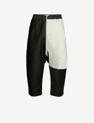 RICK OWENS DRKSHDW Cropped cotton trousers