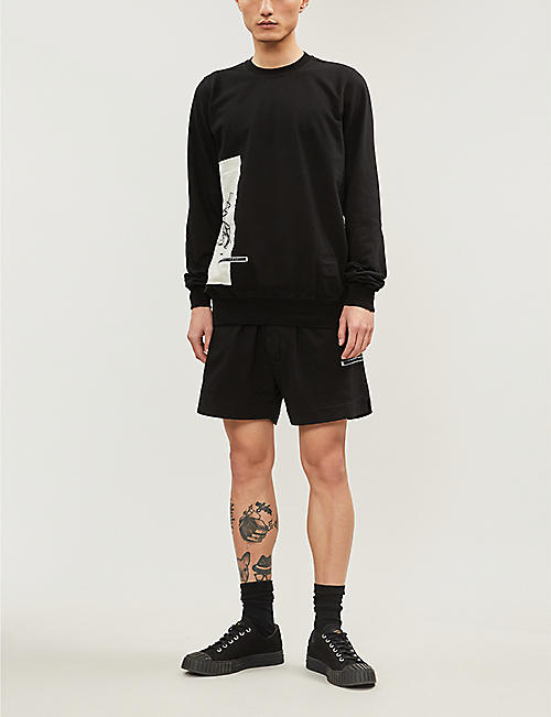 RICK OWENS DRKSHDW Relaxed-fit cotton shorts