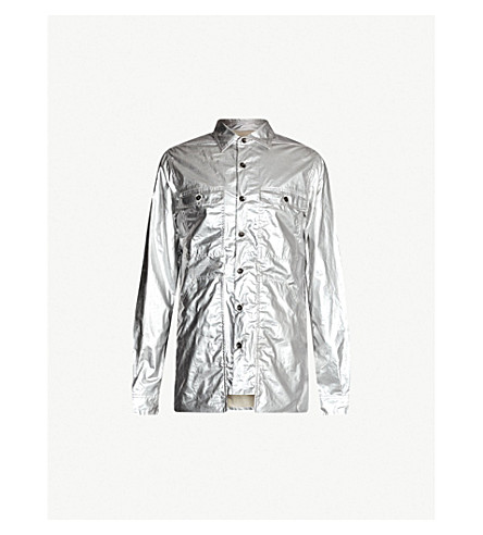 Rick Owens Drkshdw Jackets ALL-OVER METALLIC COTTON JACKET