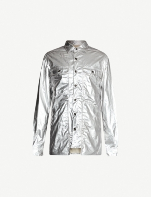 RICK OWENS DRKSHDW All-over metallic cotton jacket