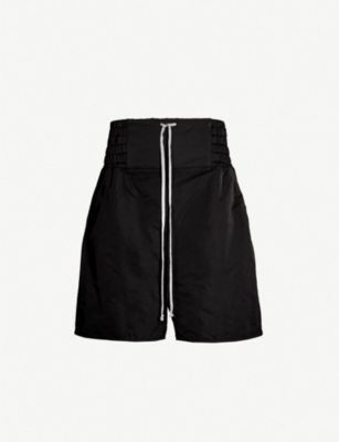 RICK OWENS Boxing relaxed-fit dropped-crotch shell shorts
