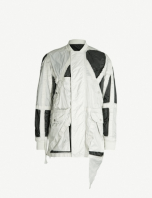 RICK OWENS Rod cut-out detail shell flight jacket