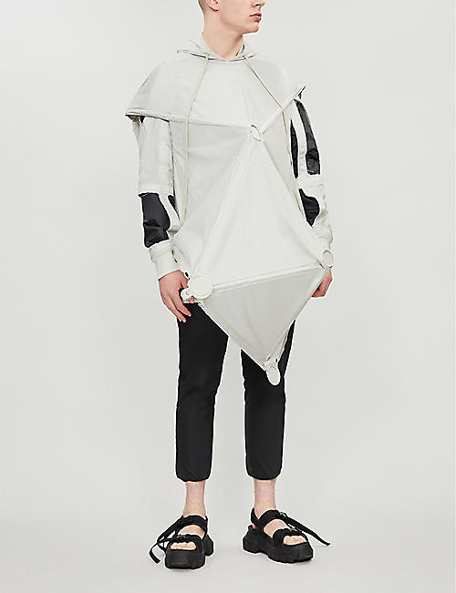 RICK OWENS Three-dimensional shell hooded parka