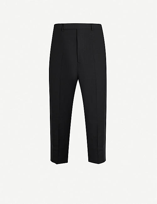 RICK OWENS Slim-fit tapered wool-blend trousers
