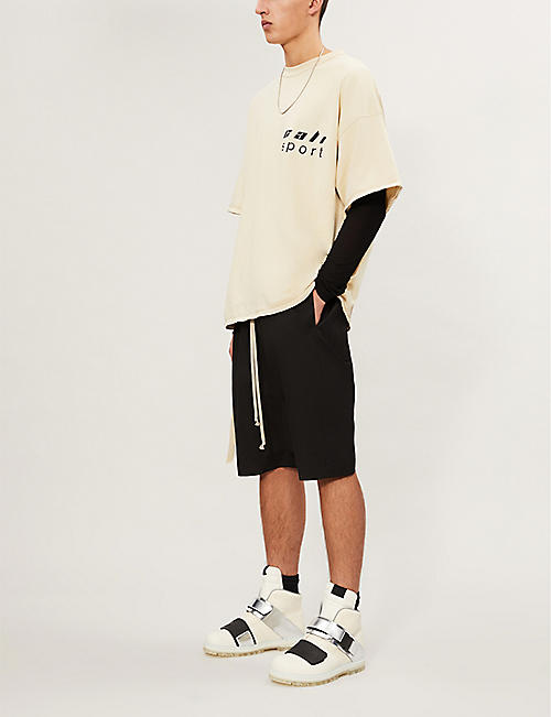 RICK OWENS Rick's Pods cotton-stretch shorts
