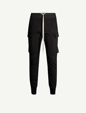 RICK OWENS Slim-fit cotton-jersey jogging bottoms