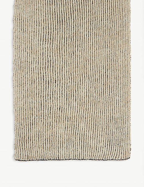RICK OWENS Maglia wool and mohair fisherman scarf