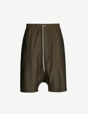 RICK OWENS Dropped-crotch wool-blend shorts