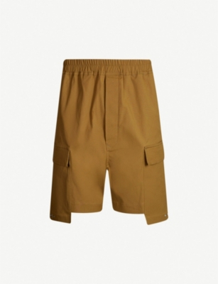 RICK OWENS Cargo patch-pocket stretch-cotton shorts