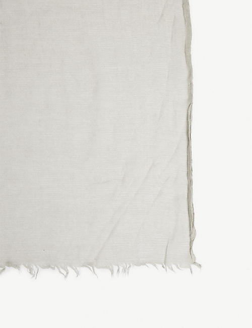 RICK OWENS Lavato raw-cut cashmere and silk-blend scarf
