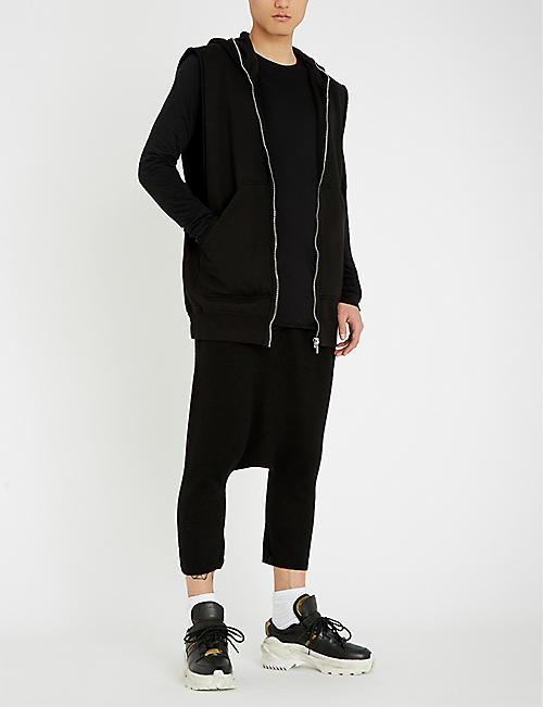 RICK OWENS Dropped-crotch cashmere trousers