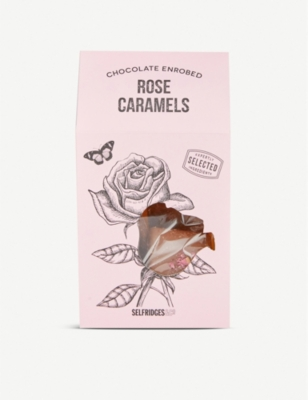 SELFRIDGES SELECTION Chocolate Enrobed Rose Caramels 150g