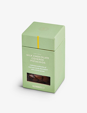 SELFRIDGES SELECTION Milk Chocolate Covered Pistachios 125g