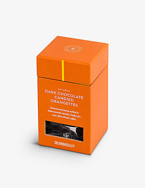 SELFRIDGES SELECTION: Dark Chocolate Candied Orangettes 125g
