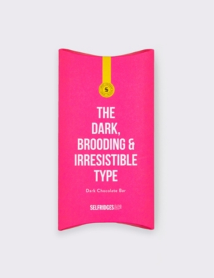 SELFRIDGES SELECTION The Dark, Brooding & Irresistible Type dark chocolate bar 80g