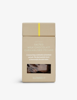 SELFRIDGES SELECTION Salted Milk Chocolate Caramelised Pecans 125g