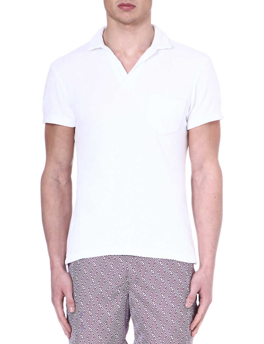 feaf03a52 ORLEBAR BROWN - Terry cotton polo shirt | Selfridges.com