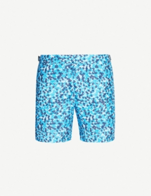 Romania Ninfea bulldog abstract floral print relaxed-fit swim shorts