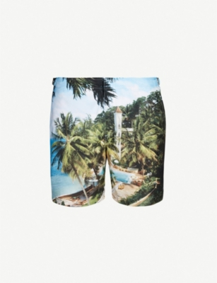 ORLEBAR BROWN Beach Club photograph bulldog relaxed-fit swim shorts