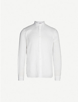 ORLEBAR BROWN: Giles tailored-fit linen shirt