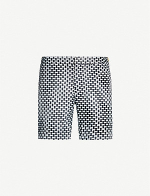 ORLEBAR BROWN Geometric-patterned tailored-fit swim shorts