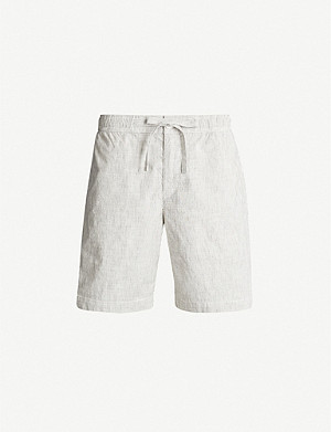 ORLEBAR BROWN Harton striped cotton and linen-blend shorts