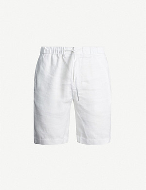 FRESCOBOL CARIOCA Relaxed-fit straight linen and cotton-blend shorts