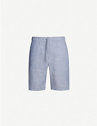 FRESCOBOL CARIOCA: Drawstring tailored linen and cotton-blend shorts