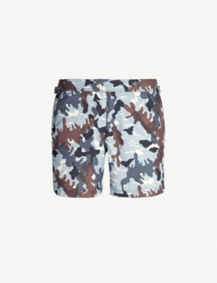 TOM FORD Camouflage-print swim shorts