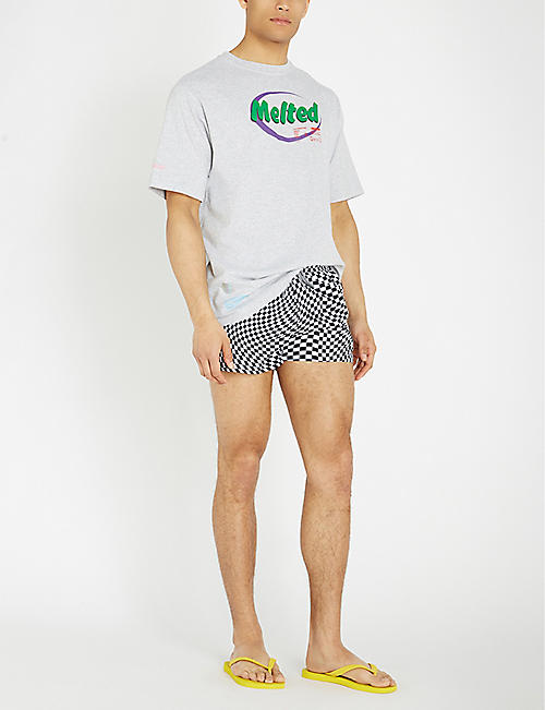 BOARDIES Shortie checked swim shorts
