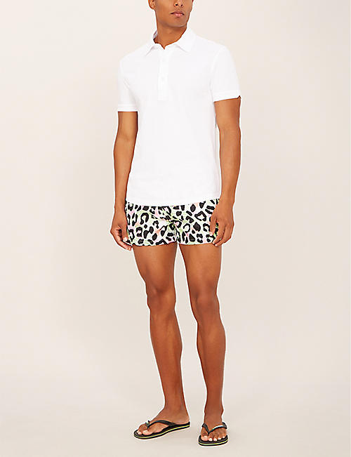 BOARDIES Tropical cheetah relaxed-fit swim shorts