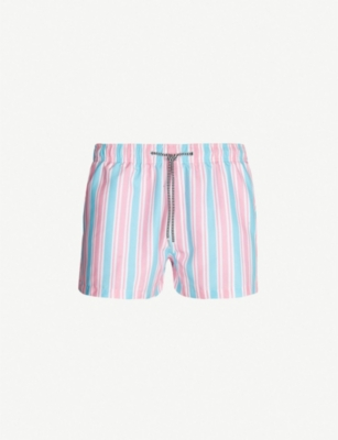 BOARDIES Candy stripe relaxed-fit swim shorts