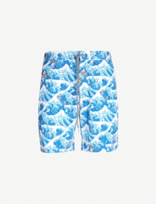 BOARDIES Koi wave-print relaxed-fit swim shorts