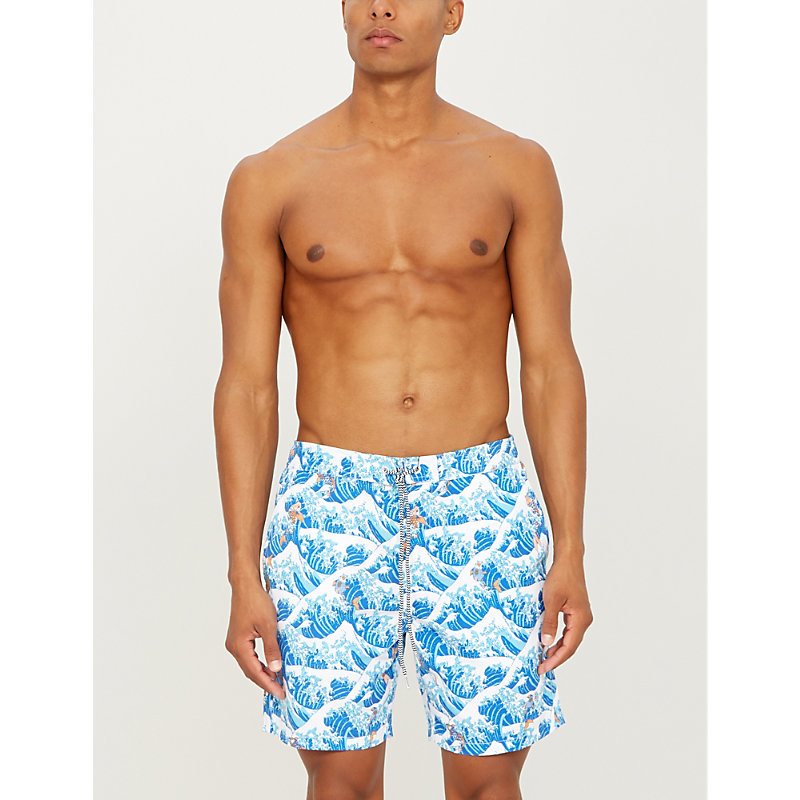 2a8308660f BOARDIES | Koi Wave-Print Relaxed-Fit Swim Shorts | Goxip