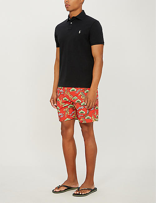 BOARDIES Tora Tiger relaxed-fit swim shorts