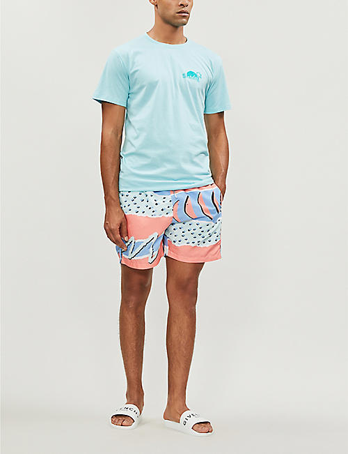 BOARDIES Fresh Prince abstract-print swim shorts