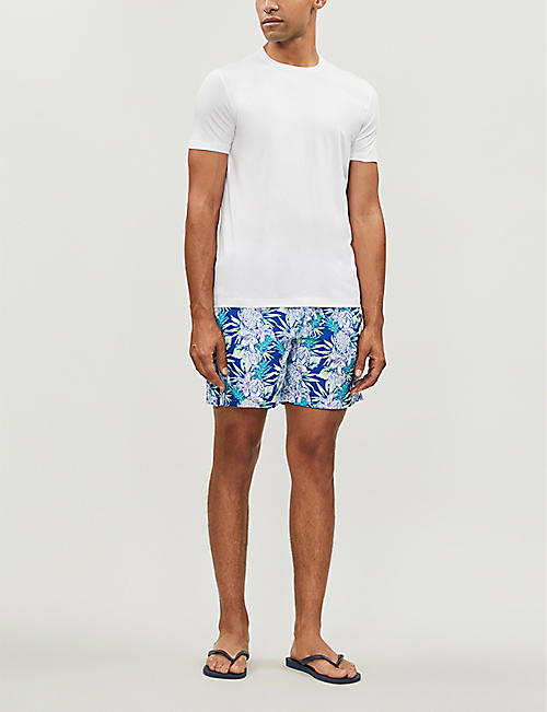 BOARDIES Aloha Hawaiian-print swim shorts