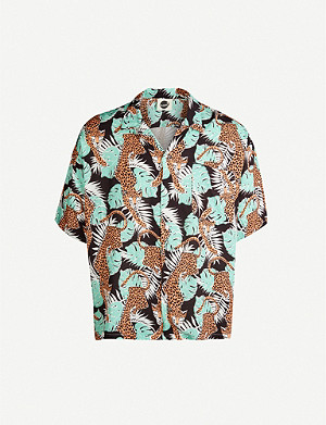 BOARDIES Purfect Paradise regular-fit rayon shirt