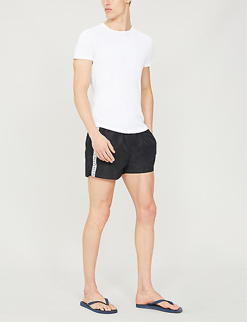 CALVIN KLEIN Logo-print relaxed-fit swim shorts