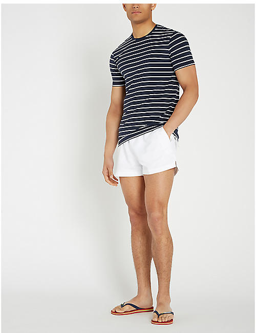 47a8f9690a CALVIN KLEIN Logo-waist mesh-lined drawstring swim shorts