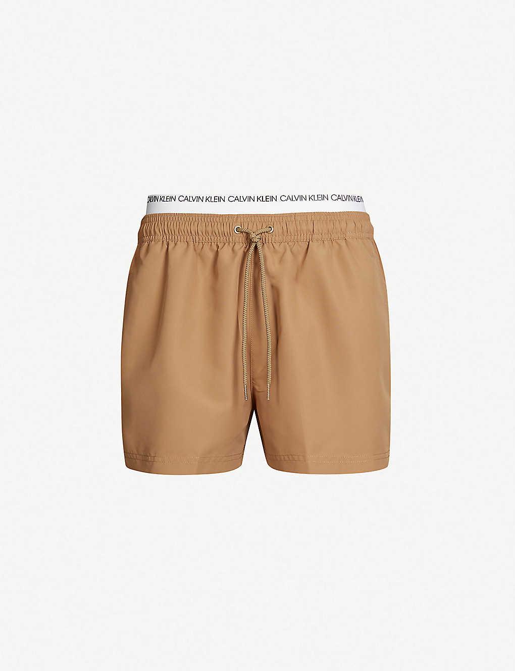 35fc4c3e40 CALVIN KLEIN - Logo-waist mesh-lined drawstring swim shorts ...