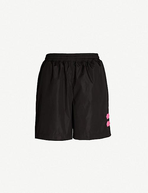 7b7efb2cc8be OFF-WHITE C O VIRGIL ABLOH Logo-print swim shorts