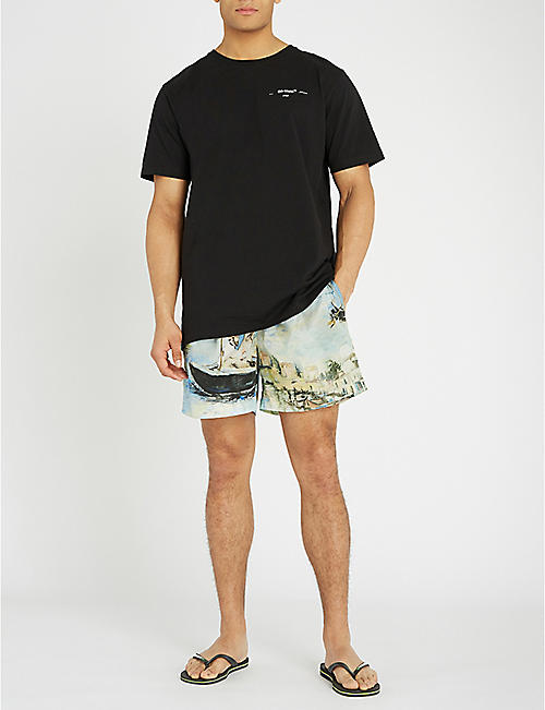 OFF-WHITE C/O VIRGIL ABLOH Lake-print swim shorts