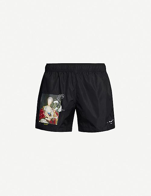 718444a60 OFF-WHITE C/O VIRGIL ABLOH Mariana de Silva graphic-print swim shorts